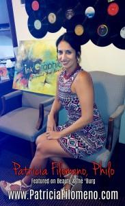 """Patricia Filomeno, """"Philo"""" Featured in radio show Beauty & The 'Burg"""