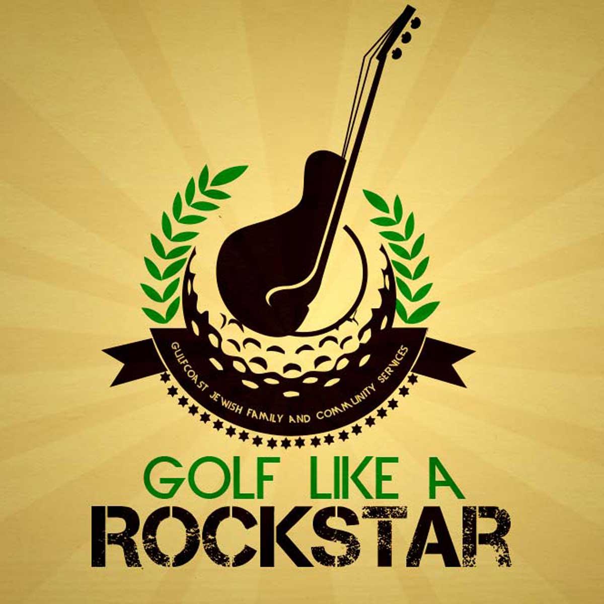 Golf Like a Rockstar Event Branding